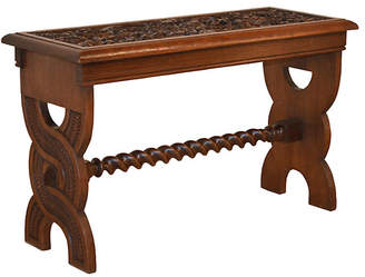 One Kings Lane Vintage 19th-C. English Oak Carved Bench