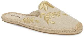 Soludos Leaf Embroidered Loafer Mule