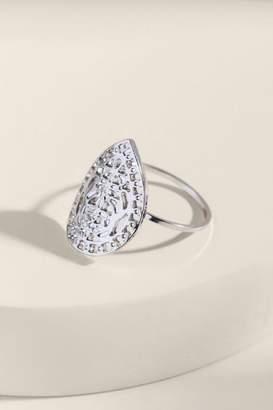francesca's Nadia Filigree Shield Ring - Silver