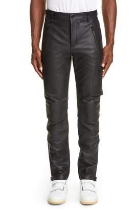 Acne Studios Ladon Zip Detail Leather Dress Pants