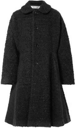 Comme des Garcons Oversized Wool-blend Bouclé Coat - Black