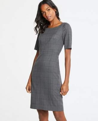 Ann Taylor Petite Glen Plaid Sheath Dress