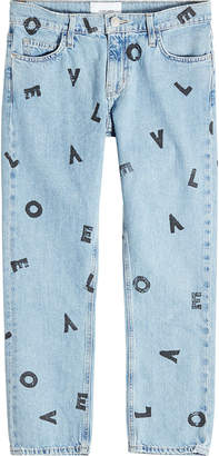 Current/Elliott The Cropped Straight Love Letter Jeans