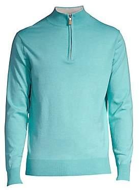 Peter Millar Men's Crown Quarter Zip Soft Knit Sweater