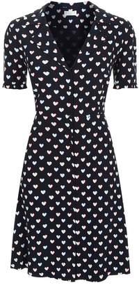 Claudie Pierlot Heart Printed Mini Dress