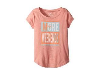 Roxy Kids More Weekends Fashion Crew Top (Toddler/Little Kids/Big Kids)