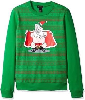 Alex Stevens Men's Jingle Balls Santa Ugly Christmas Sweater