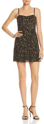 French Connection Sweetheart Sequined Mini Slip Dress - 100% Exclusive