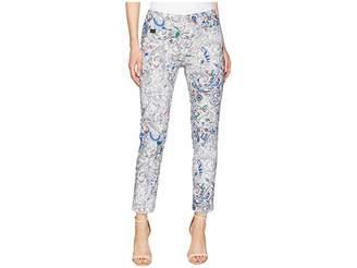 Lisette L Montreal Japanese Paisley Print Slim Ankle Pants Women's Casual Pants