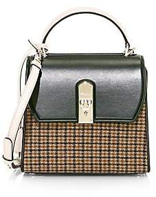 Salvatore Ferragamo Women's Medium Boxyz Tweed & Leather Top Handle Bag