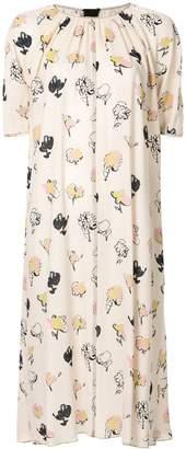 Marni printed midi dress