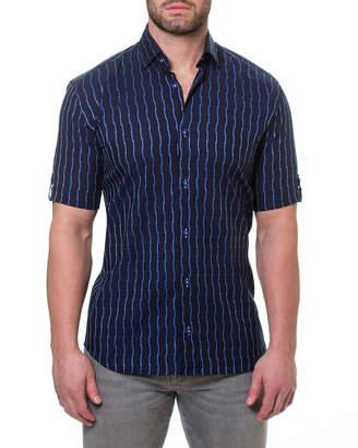 Maceoo Men's Shaped Fit Fresh-Link Short-Sleeve Sport Shirt