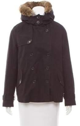 Comptoir des Cotonniers Fur-Trimmed Short Coat