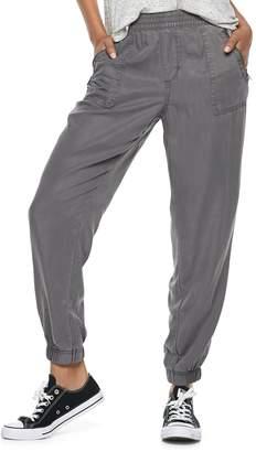 So Juniors' SO Zip-Pocket Twill Low-Rise Jogger Pants