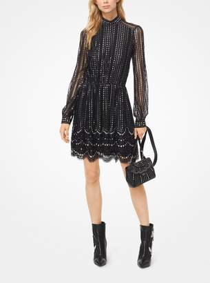 MICHAEL Michael Kors Embroidered Lace Tiered Dress