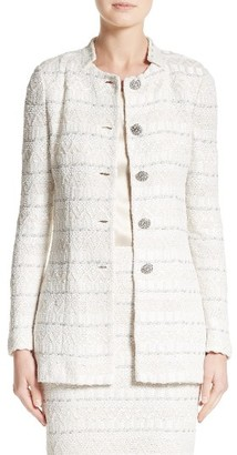 Women's St. John Collection Samar Knit Tweed Jacket $1,795 thestylecure.com