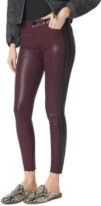 Sam Edelman The Kitten Side Stripe Coated Ankle Skinny Jeans