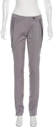 Plein Sud Jeans Zip Accents Straight-Leg Pants