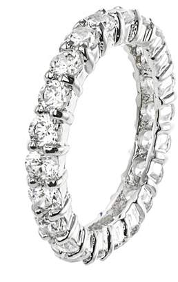 Kenneth Jay Lane CZ By Round CZ Eternity Band Classic Ring