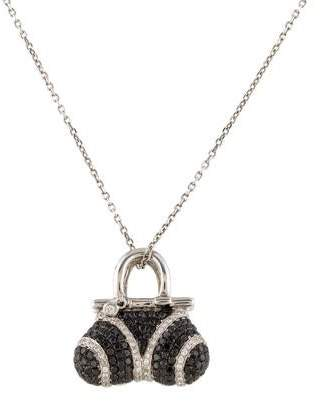 Black Diamond 18K Diamond & Handbag Pendant Necklace