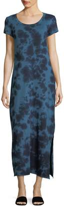 Style&Co. Style & Co. Tie Dye Short Sleeve Maxi Dress