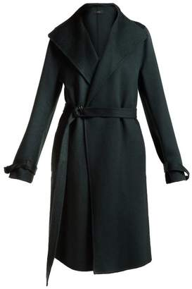Joseph New Lima Wool Blend Belted Coat - Womens - Dark Green