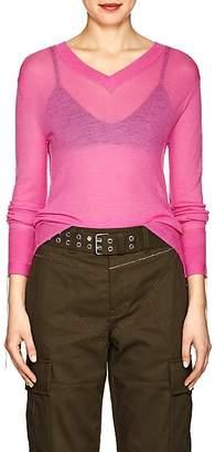 Helmut Lang Women's Cashmere V-Neck Sweater - Pink