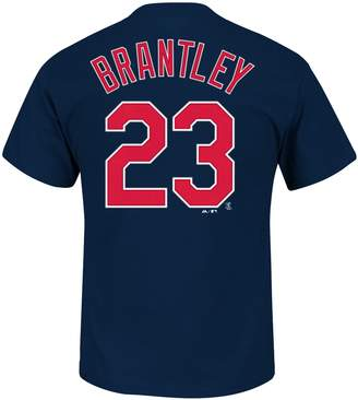Majestic Men's Cleveland Indians Michael Brantley Player Name and Number Tee