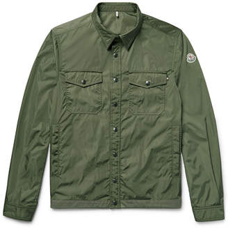 Moncler Triomphe Cotton-Trimmed Nylon Shirt Jacket