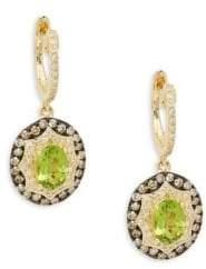 Effy 14K Yellow Gold, Peridot & Diamond Drop Earrings