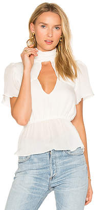 STONE COLD FOX Florence Blouse in White $297 thestylecure.com