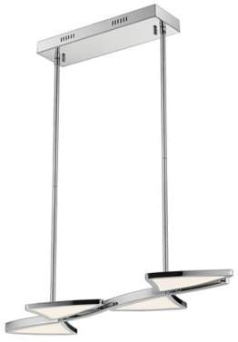 Filament Design Aeon 1-Light 28-Inch LED Island Light in Chrome