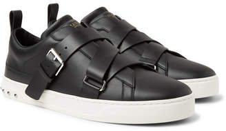 Valentino Garavani V-Punk Leather Sneakers - Black
