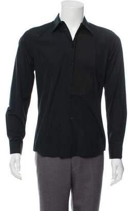 Givenchy Pique Bib Button-Up Shirt