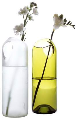 Artecnica Recycled Glass Two Hole Vase