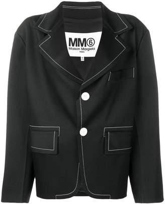 MM6 MAISON MARGIELA contrast stitch blazer