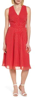 Anne Klein Polka Dot A-Line Dress