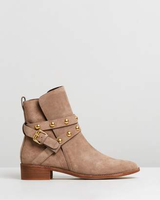 See by Chloe Studded Wrap Leather Flat Boots