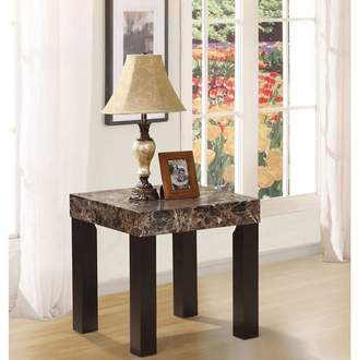 Red Barrel Studio Mccumber Faux Marbelized Granite End Table