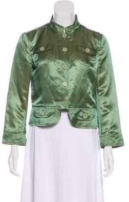 Etro Linen-Blend Satin Jacket