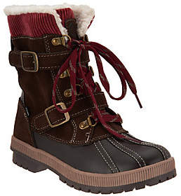 Khombu Waterproof Double Buckle Lace-up Boots -Shirley