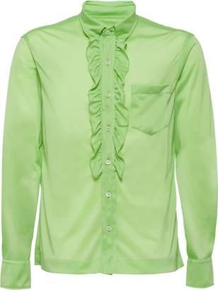 Prada button down ruffled shirt
