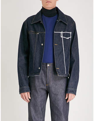 Maison Margiela Embroidered strips denim jacket