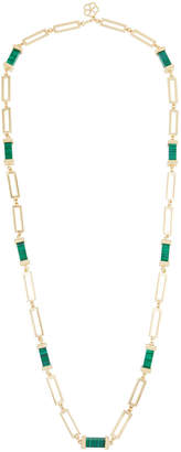 Trina Turk Long Necklace w/ Green Malachite