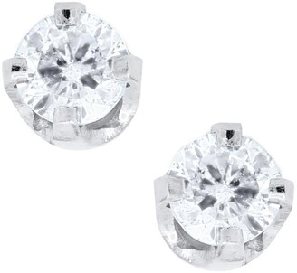 Mignonette 14k White Gold & Diamond Earrings
