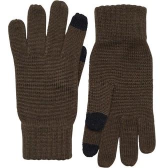 French Connection Mens Touchscreen Gloves Khaki