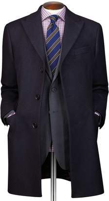 Charles Tyrwhitt Navy Wool and Cashmere Epsom OverWool/cashmere coat Size 46