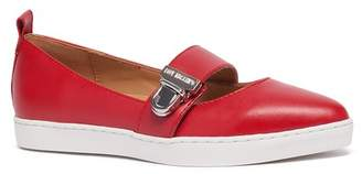 Love Moschino Scarpad Almond Toe Faux Leather Flat