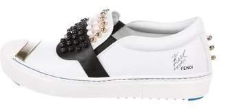 Fendi Karlito Studded Slip-On Sneakers w/ Tags