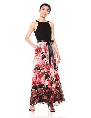 S.L. Fashions Women's Maxi Chiffon Print Skirt